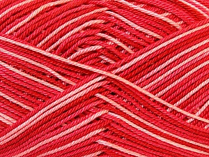 Ne: 8/4. Nm 14/4 Fiber Content 100% Mercerised Cotton, White, Salmon, Red, Brand ICE, Yarn Thickness 2 Fine  Sport, Baby, fnt2-34760