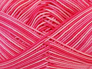 Ne: 8/4. Nm 14/4 Fiber Content 100% Mercerised Cotton, Pink Shades, Brand Ice Yarns, Yarn Thickness 2 Fine  Sport, Baby, fnt2-34761