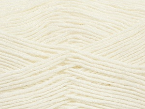Fiber Content 50% Wool, 50% Acrylic, White, Brand ICE, Yarn Thickness 3 Light  DK, Light, Worsted, fnt2-35018