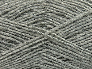 Fiber Content 50% Wool, 50% Acrylic, Light Grey, Brand ICE, Yarn Thickness 3 Light  DK, Light, Worsted, fnt2-35019