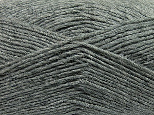 Fiber Content 50% Wool, 50% Acrylic, Brand ICE, Grey, Yarn Thickness 3 Light  DK, Light, Worsted, fnt2-35020