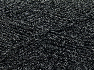 Fiber Content 50% Wool, 50% Acrylic, Brand ICE, Dark Grey, Yarn Thickness 3 Light  DK, Light, Worsted, fnt2-35021