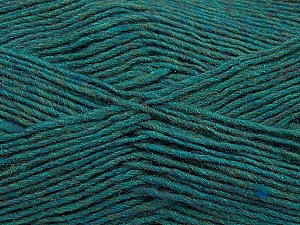 Fiber Content 50% Wool, 50% Acrylic, Teal Melange, Brand Ice Yarns, Yarn Thickness 3 Light  DK, Light, Worsted, fnt2-35027