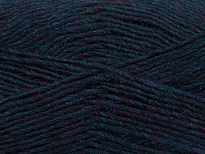 Fiber Content 50% Wool, 50% Acrylic, Navy Melange, Brand ICE, Yarn Thickness 3 Light  DK, Light, Worsted, fnt2-35028