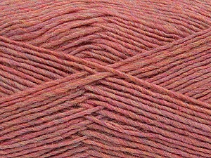Fiber Content 50% Wool, 50% Acrylic, Pink Melange, Brand ICE, Yarn Thickness 3 Light  DK, Light, Worsted, fnt2-35032