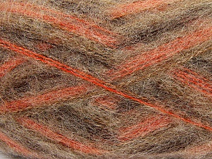 Fiber Content 70% Mohair, 30% Acrylic, Brand ICE, Copper, Brown Shades, Yarn Thickness 3 Light  DK, Light, Worsted, fnt2-35069
