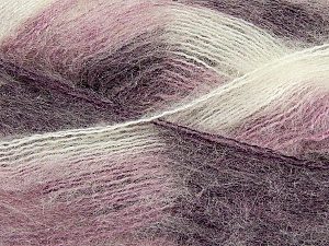Fiber Content 70% Mohair, 30% Acrylic, White, Purple, Lilac, Brand ICE, Yarn Thickness 3 Light  DK, Light, Worsted, fnt2-35071