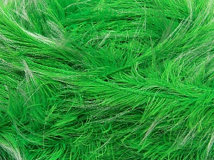 Fiber Content 100% Polyester, White, Neon Green, Brand ICE, Yarn Thickness 5 Bulky  Chunky, Craft, Rug, fnt2-36738