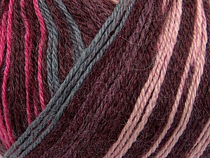 Fiber Content 40% Acrylic, 35% Wool, 25% Alpaca, Pink, Maroon, Brand ICE, Grey, Yarn Thickness 2 Fine  Sport, Baby, fnt2-36984