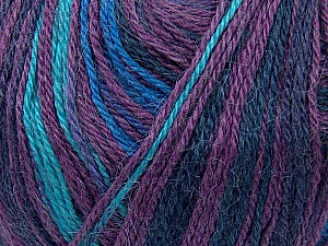 Fiber Content 40% Acrylic, 35% Wool, 25% Alpaca, Turquoise, Purple, Maroon, Brand ICE, Blue, Yarn Thickness 2 Fine  Sport, Baby, fnt2-36986