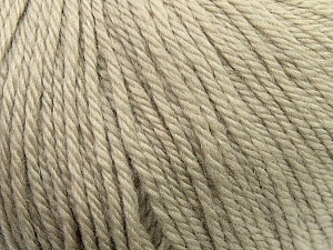 Fiber Content 100% Wool, Brand ICE, Dark Beige, Yarn Thickness 4 Medium  Worsted, Afghan, Aran, fnt2-37992