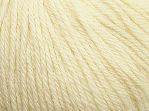 Fiber Content 100% Wool, Brand ICE, Cream, Yarn Thickness 4 Medium  Worsted, Afghan, Aran, fnt2-37994