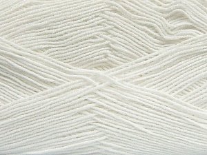 Fiber Content 55% Cotton, 45% Acrylic, White, Brand ICE, Yarn Thickness 1 SuperFine  Sock, Fingering, Baby, fnt2-38662