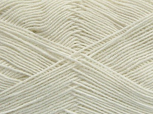 Fiber Content 55% Cotton, 45% Acrylic, Off White, Brand ICE, Yarn Thickness 1 SuperFine  Sock, Fingering, Baby, fnt2-38663