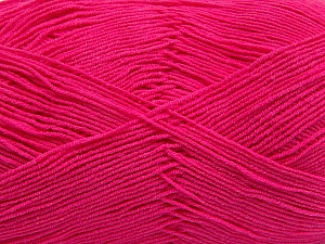 Fiber Content 55% Cotton, 45% Acrylic, Brand ICE, Fuchsia, Yarn Thickness 1 SuperFine  Sock, Fingering, Baby, fnt2-38674