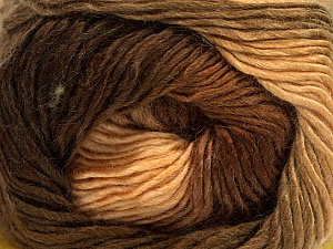 Fiber Content 50% Acrylic, 50% Wool, Brand ICE, Brown Shades, Yarn Thickness 2 Fine  Sport, Baby, fnt2-40623