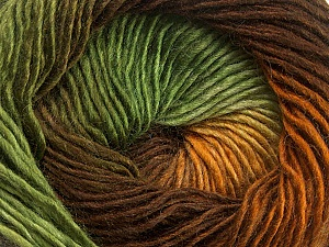 Fiber Content 50% Acrylic, 50% Wool, Brand ICE, Green Shades, Brown Shades, Yarn Thickness 2 Fine  Sport, Baby, fnt2-40628