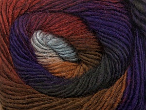 Fiber Content 50% Wool, 50% Acrylic, Purple, Brand ICE, Grey Shades, Brown Shades, Yarn Thickness 2 Fine  Sport, Baby, fnt2-40630
