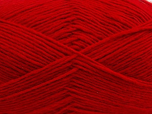 Fiber Content 50% Wool, 50% Acrylic, Red, Brand ICE, Yarn Thickness 3 Light  DK, Light, Worsted, fnt2-40810