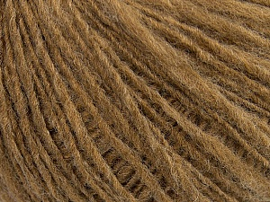 Fiber Content 60% Acrylic, 40% Wool, Light Brown, Brand ICE, Yarn Thickness 3 Light  DK, Light, Worsted, fnt2-40956