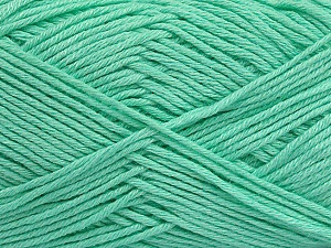 Fiber Content 50% Cotton, 50% Bamboo, Mint Green, Brand ICE, Yarn Thickness 2 Fine  Sport, Baby, fnt2-41446