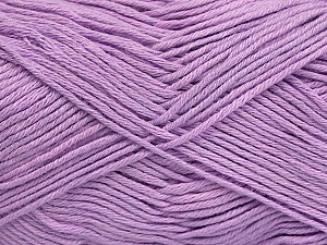 Fiber Content 50% Cotton, 50% Bamboo, Lilac, Brand ICE, Yarn Thickness 2 Fine  Sport, Baby, fnt2-41449