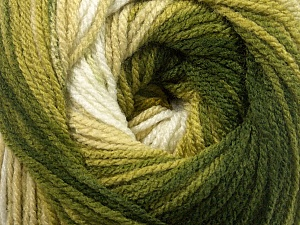 Fiber Content 100% Premium Acrylic, Brand ICE, Green Shades, Yarn Thickness 3 Light  DK, Light, Worsted, fnt2-42194