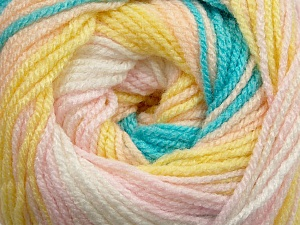 Fiber Content 100% Premium Acrylic, Yellow, White, Pink, Brand ICE, Blue, Yarn Thickness 3 Light  DK, Light, Worsted, fnt2-42197
