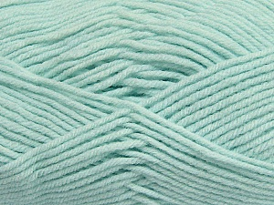 Fiber Content 100% Micro Acrylic, Mint Green, Brand Ice Yarns, Yarn Thickness 3 Light  DK, Light, Worsted, fnt2-42301