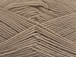 Fiber Content 100% Virgin Wool, Brand ICE, Beige, Yarn Thickness 3 Light  DK, Light, Worsted, fnt2-42306