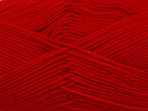 Fiber Content 100% Virgin Wool, Red, Brand ICE, Yarn Thickness 3 Light  DK, Light, Worsted, fnt2-42317