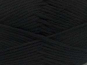 Fiber Content 50% Acrylic, 50% Polyamide, Brand ICE, Black, Yarn Thickness 3 Light  DK, Light, Worsted, fnt2-42368