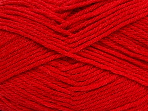 Fiber Content 50% Acrylic, 50% Polyamide, Tomato Red, Brand ICE, Yarn Thickness 3 Light  DK, Light, Worsted, fnt2-42378