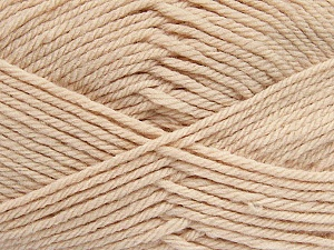 Fiber Content 50% Acrylic, 50% Polyamide, Light Beige, Brand ICE, Yarn Thickness 3 Light  DK, Light, Worsted, fnt2-42388