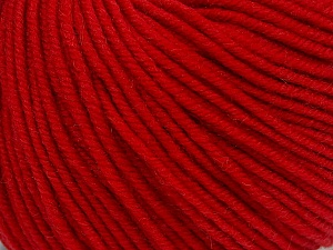 SUPERWASH MERINO is a worsted weight 100% superwash merino yarn available in 47 beautiful colors. Marvelous hand, perfect stitch definition, and a soft-but-sturdy finished fabric. Projects knit and crocheted in SUPERWASH MERINO are machine washable! Lay flat to dry. Fiber Content 100% Superwash Merino Wool, Red, Brand ICE, Yarn Thickness 4 Medium  Worsted, Afghan, Aran, fnt2-42466