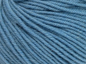 SUPERWASH MERINO is a worsted weight 100% superwash merino yarn available in 47 beautiful colors. Marvelous hand, perfect stitch definition, and a soft-but-sturdy finished fabric. Projects knit and crocheted in SUPERWASH MERINO are machine washable! Lay flat to dry. Fiber Content 100% Superwash Merino Wool, Light Blue, Brand ICE, Yarn Thickness 4 Medium  Worsted, Afghan, Aran, fnt2-42474