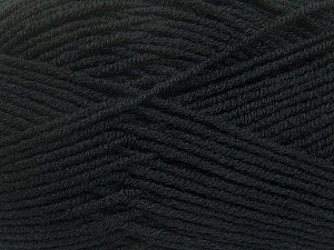 Fiber Content 50% Wool, 50% Acrylic, Brand ICE, Black, Yarn Thickness 4 Medium  Worsted, Afghan, Aran, fnt2-42527