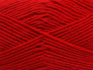 Fiber Content 50% Wool, 50% Acrylic, Red, Brand ICE, Yarn Thickness 4 Medium  Worsted, Afghan, Aran, fnt2-42539