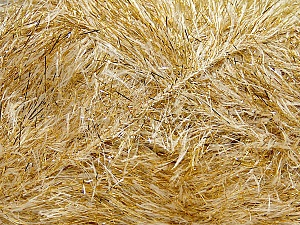 Fiber Content 75% Polyester, 25% Metallic Lurex, Brand ICE, Gold, Cream, Yarn Thickness 5 Bulky  Chunky, Craft, Rug, fnt2-42668