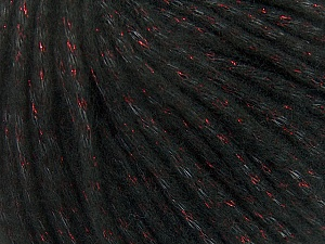 Fiber Content 8% Polyamide, 77% Acrylic, 15% Metallic Lurex, Red, Brand ICE, Black, Yarn Thickness 5 Bulky  Chunky, Craft, Rug, fnt2-42725