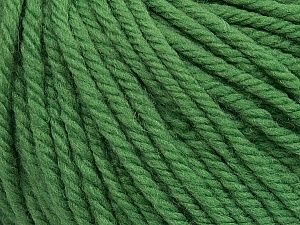 SUPERWASH WOOL BULKY is a bulky weight 100% superwash wool yarn. Perfect stitch definition, and a soft-but-sturdy finished fabric. Projects knit and crocheted in SUPERWASH WOOL BULKY are machine washable! Lay flat to dry. Fiber Content 100% Superwash Wool, Brand ICE, Dark Green, Yarn Thickness 5 Bulky  Chunky, Craft, Rug, fnt2-42835