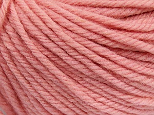 SUPERWASH WOOL BULKY is a bulky weight 100% superwash wool yarn. Perfect stitch definition, and a soft-but-sturdy finished fabric. Projects knit and crocheted in SUPERWASH WOOL BULKY are machine washable! Lay flat to dry. Fiber Content 100% Superwash Wool, Brand ICE, Baby Pink, Yarn Thickness 5 Bulky  Chunky, Craft, Rug, fnt2-42846