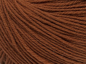 SUPERWASH WOOL is a DK weight 100% superwash wool yarn. Perfect stitch definition, and a soft-but-sturdy finished fabric. Projects knit and crocheted in SUPERWASH WOOL are machine washable! Lay flat to dry. Fiber Content 100% Superwash Wool, Brand ICE, Brown, Yarn Thickness 3 Light  DK, Light, Worsted, fnt2-42920
