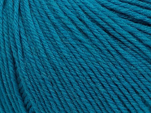 SUPERWASH WOOL is a DK weight 100% superwash wool yarn. Perfect stitch definition, and a soft-but-sturdy finished fabric. Projects knit and crocheted in SUPERWASH WOOL are machine washable! Lay flat to dry. Fiber Content 100% Superwash Wool, Turquoise, Brand ICE, Yarn Thickness 3 Light  DK, Light, Worsted, fnt2-42928