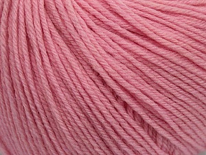 SUPERWASH WOOL is a DK weight 100% superwash wool yarn. Perfect stitch definition, and a soft-but-sturdy finished fabric. Projects knit and crocheted in SUPERWASH WOOL are machine washable! Lay flat to dry. Fiber Content 100% Superwash Wool, Light Pink, Brand ICE, Yarn Thickness 3 Light  DK, Light, Worsted, fnt2-42943