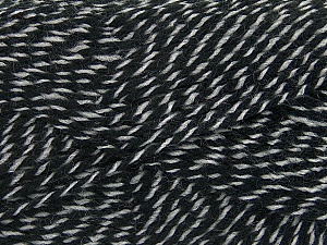 Fiber Content 70% Acrylic, 30% Wool, Brand ICE, Grey, Black, Yarn Thickness 2 Fine  Sport, Baby, fnt2-43358
