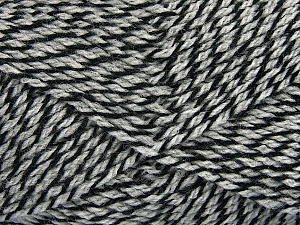 Fiber Content 70% Acrylic, 30% Wool, Brand ICE, Grey, Black, Yarn Thickness 2 Fine  Sport, Baby, fnt2-43359