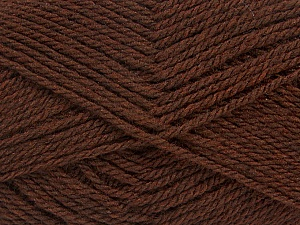 Fiber Content 70% Acrylic, 30% Wool, Brand ICE, Brown, Yarn Thickness 2 Fine  Sport, Baby, fnt2-43363