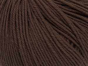 SUPERWASH WOOL is a DK weight 100% superwash wool yarn. Perfect stitch definition, and a soft-but-sturdy finished fabric. Projects knit and crocheted in SUPERWASH WOOL are machine washable! Lay flat to dry. Fiber Content 100% Superwash Wool, Brand ICE, Dark Brown, Yarn Thickness 3 Light  DK, Light, Worsted, fnt2-43507