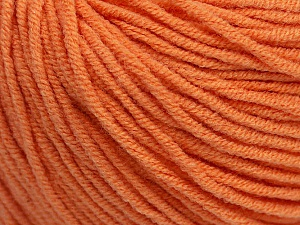 Fiber Content 50% Acrylic, 50% Cotton, Light Orange, Brand ICE, Yarn Thickness 3 Light  DK, Light, Worsted, fnt2-43834